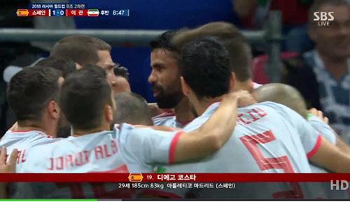 [월드컵] 무적함대 스페인, 이란 1-0 꺾어...포르투갈과 B조 공동선두